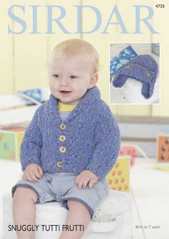 Cardigan and Helmet in Sirdar Snuggly Tutti Frutti (4735) Digital Version