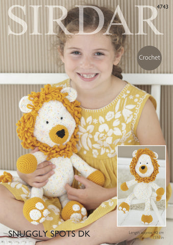 Logan The Lion Toy In Sirdar Snuggly Spots & Snuggly Dk (4743) - Digital Version
