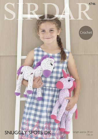 Horse & Unicorn Toys In Sirdar Snuggly Spots Dk & Snuggly Dk (4746) - Digital Version