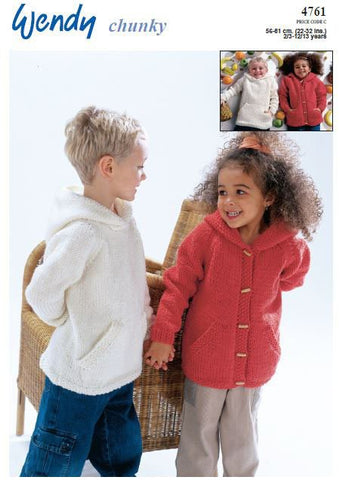 Hooded Top and Jacket in Wendy Chunky (4761) Digital Version-Deramores