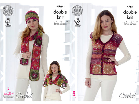 Cardigan & Accessories in King Cole Riot DK (4764)