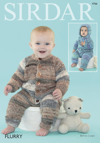 Baby Sweater in Sirdar Flurry Chunky (4766) - Digital Version-Deramores