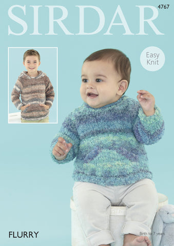 Baby Sweater in Sirdar Flurry Chunky (4767) - Digital Version-Deramores