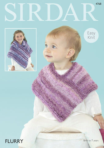 Baby Coats & Ponchos in Sirdar Flurry Chunky (4768) - Digital Version-Deramores