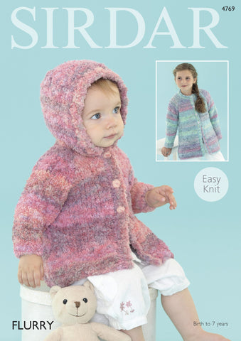 Baby Cardigans & Jackets in Sirdar Flurry Chunky (4769) - Digital Version-Deramores