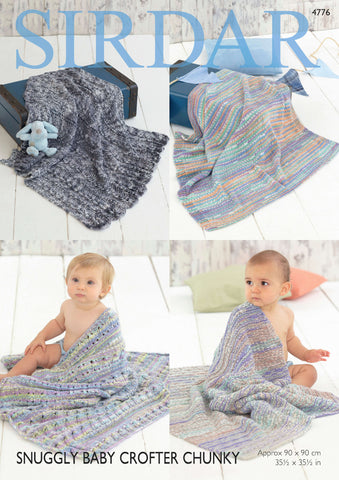 Blankets in Sirdar Snuggly Baby Crofter Chunky (4776)-Deramores