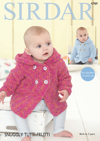 Girl's/Boy's Hooded Jacket in Sirdar Snuggly Tutti Frutti (4789)