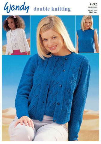 Cardigan and Top in Wendy DK (4792) Digital Version-Deramores