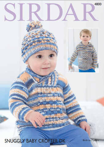 Sweaters & Hats in Sirdar Snuggly Baby Crofter DK (4800)