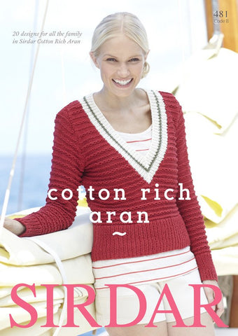 Sirdar Cotton Rich Aran (481B)