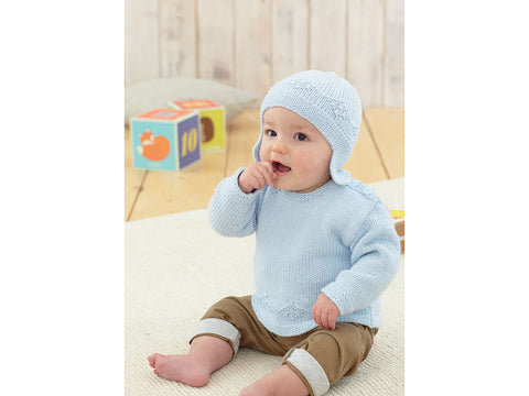 Sweater, Helmet, Bootees and Blanket in Sirdar No.1 (4848)