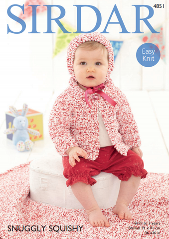 Jacket, Bonnet & Blanket in Sirdar Snuggly Squishy (4851)