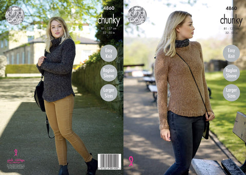 Ladies Sweaters in King Cole Indulge Chunky (4860)