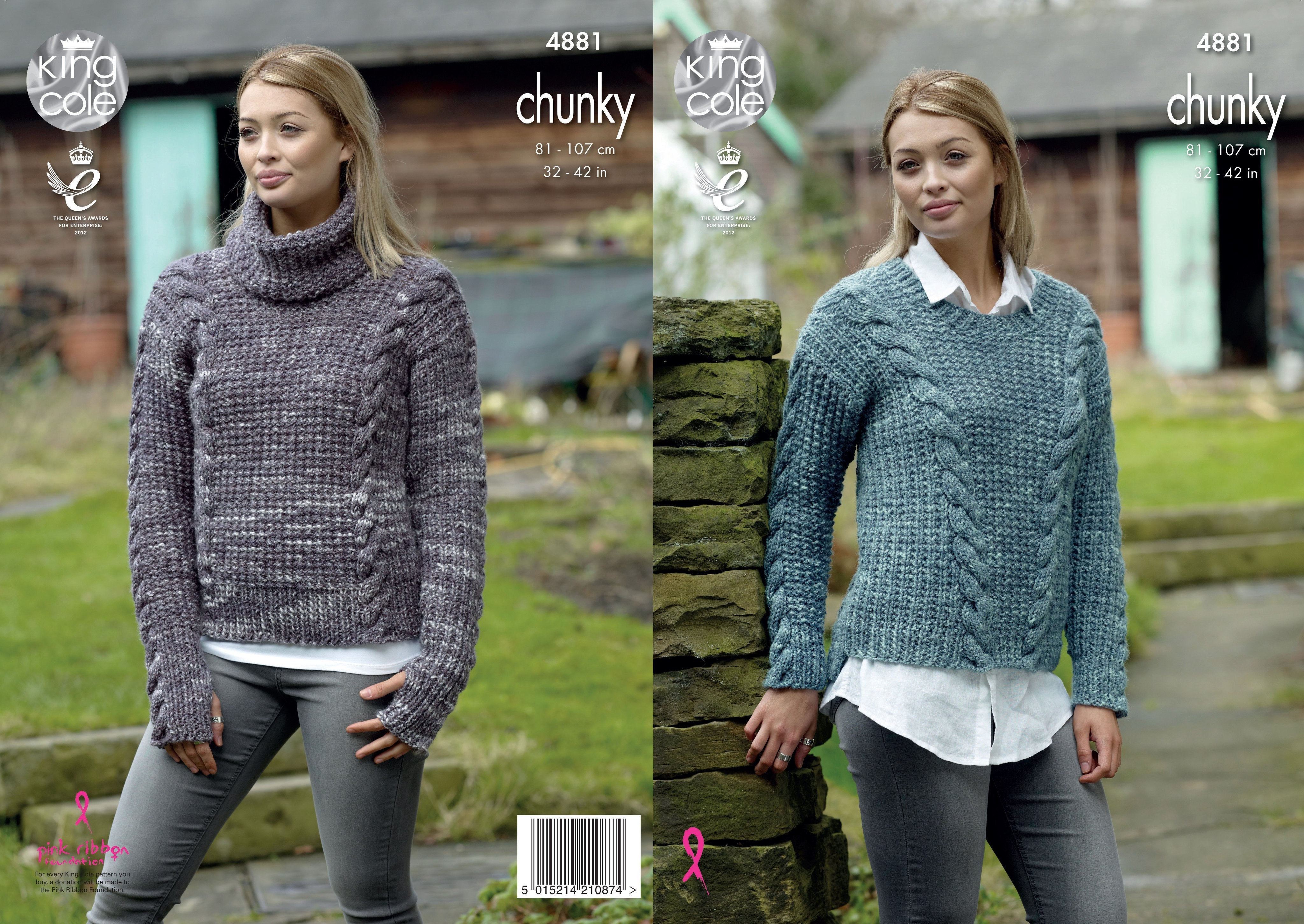 Sweaters Knitted In King Cole Big Value Tonal Chunky