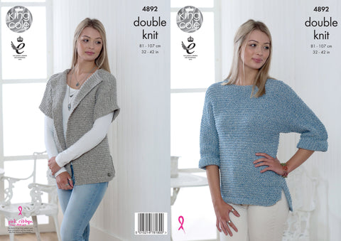 Sweater & Cardigan Knitted in King Cole DK (4892)