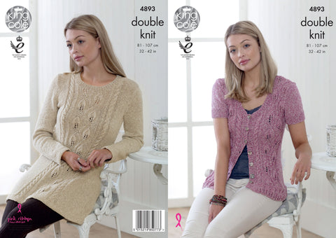 Tunic & Cardigan Knitted in King Cole DK (4893)