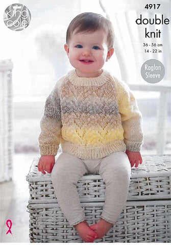 Cardigans and Sweater in King Cole Melody (4917)