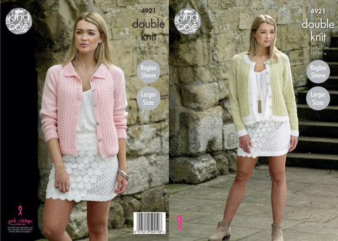 Ladies' Cardigans Knitted in Majestic DK (4921)