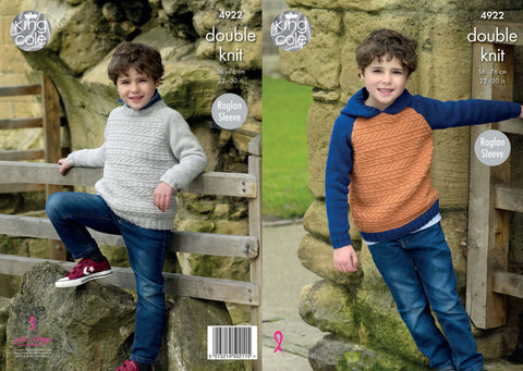 Hoodie & Sweater Knitted in King Cole Majestic DK (4922)