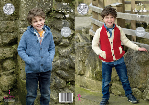 Jacket & Hoodie Knitted in King Cole Majestic DK (4924)