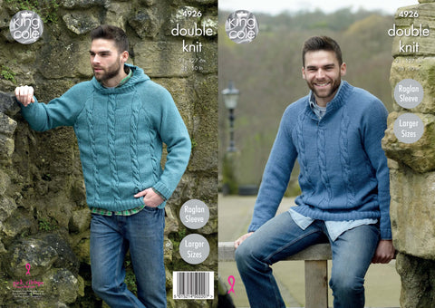 Men's Sweaters Knitted in Majestic DK (4926)