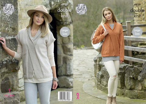 Ladies' Sweater & Slipover Knitted in Majestic DK (4929)