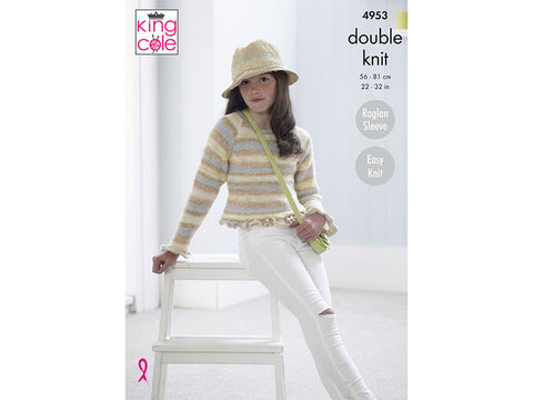 Cardigan and Sweater in King Cole Splash DK (4953)