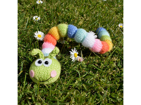 Rainbow Caterpillar Knitting Pattern in Deramores Yarn