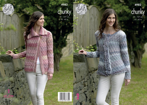 Cardigans Knitted in King Cole Chunky (4982)