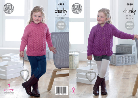 Sweater & Cardigan Knitted in King Cole Big Value Chunky (4989)