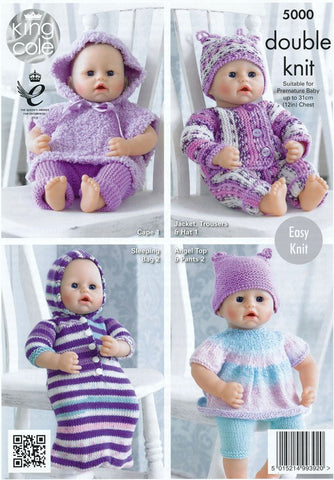 Buy Dolls Clothes In King Cole Dk 5000 Online Knitting Patterns