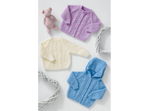 Cardigans & Sweater by Jenny Watson in James C. Brett Baby 4 Ply (5004)