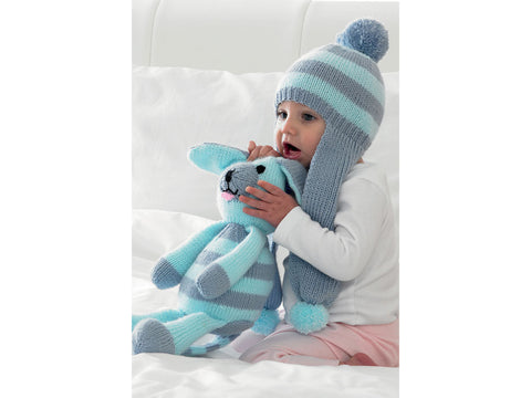 Toy Dog & Scarf Hat by Jenny Watson in Deramores Studio Baby DK (5006)