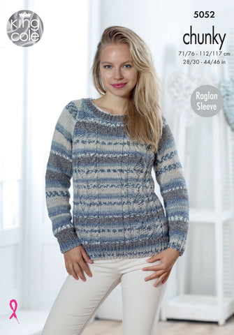 Ladies Cardigan & Sweater in King Cole Drifter Chunky (5052K)
