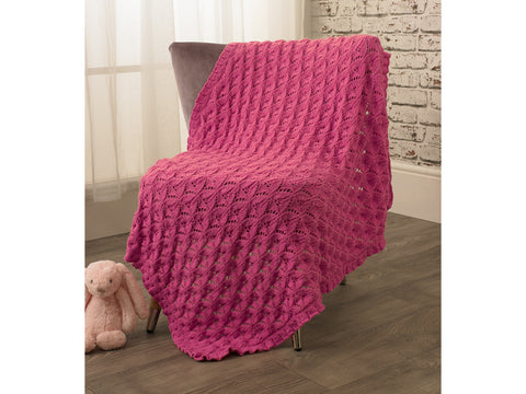 Blanket in Jenny Watson Babysoft DK (5073) Knitting Kit and Pattern