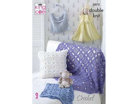 Blankets, Cushion, Toy Bag & Nappy Bag in King Cole Cottonsoft DK (5073K)