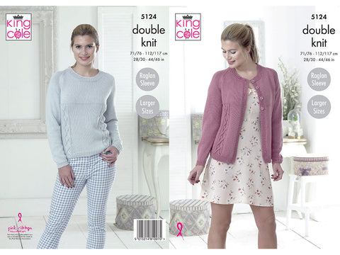 Cardigan & Sweater in King Cole Cottonsoft DK (5124K)