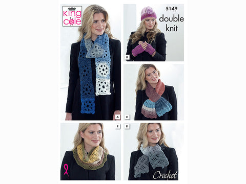 Accessories Crochet Kit and Pattern in King Cole Yarn (5149K)