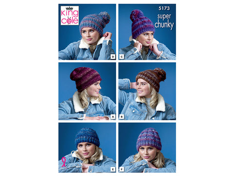 Hats in King Cole Orbit Super Chunky (5173)
