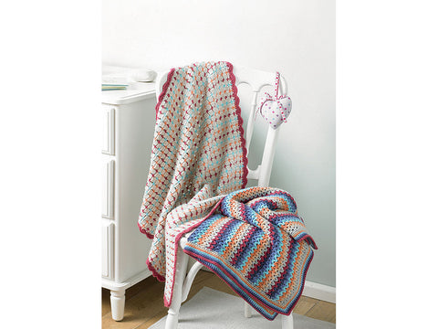 Blankets Crochet Kit and Pattern in Sirdar Yarn (5203)