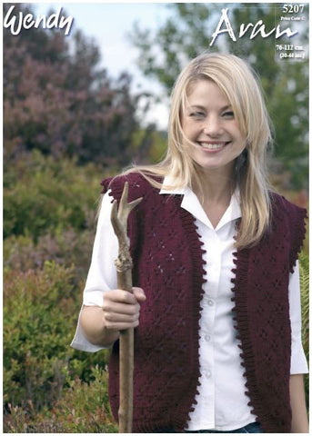 Waistcoat in Wendy Aran with Wool (5207) Digital Version
