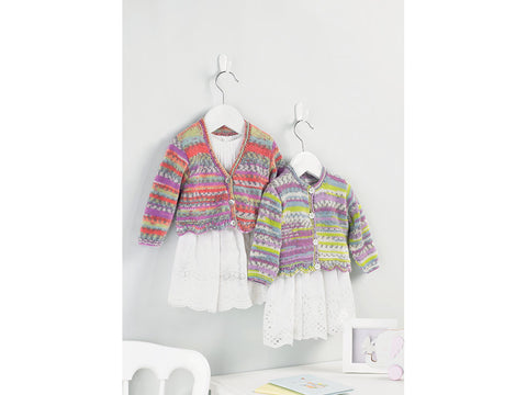 Baby Girl's Cardigans in Sirdar Snuggly Baby Crofter DK (5213)