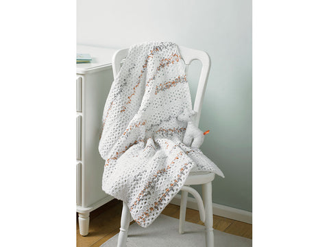 Baby Blanket Crochet Kit and Pattern in Hayfield Yarn (5235)