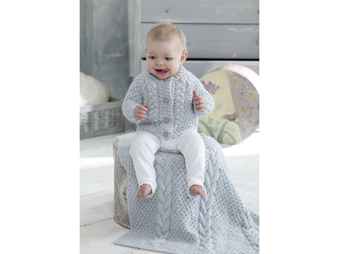 Cardigans, Blanket & Hat in King Cole Big Value Baby Chunky (5237K)