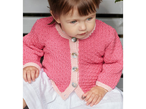 532e1c2b3 SAVE 10%Girls Cardigan in Sirdar Snuggly Baby Cashmere Merino DK (5242)