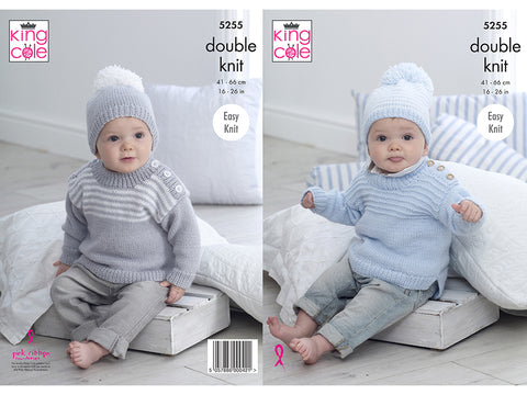 Sweaters & Hats in King Cole Big Value Baby DK 50g (5255K)