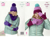 Snoods, Mitts & Hats in King Cole Big Value DK 50g (5264K)