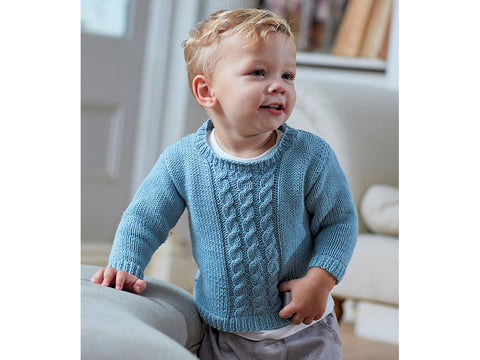 Sirdar 4712 Knitting Pattern Baby Sweater /& Tank Top Snuggly Baby Crofter 4 Ply