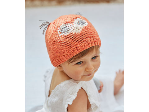 Baby Owl Hats in Sirdar Snuggly 100% Cotton (5275S) Knitting Kit and Pattern