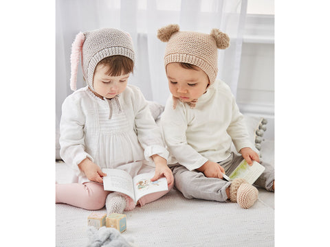Babies Hats and Bootees in Sirdar Snuggly Cashmere Merino and Bunny (5303S)